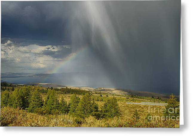 Bear Lake Storm Greeting Card