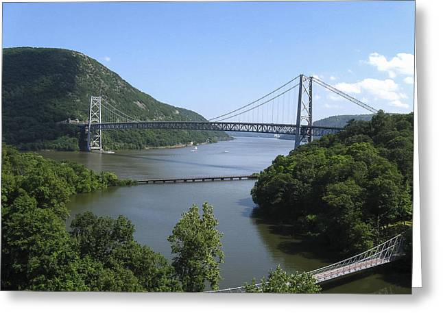 Bear Mountain Bridge Greeting Card by Doug McPherson