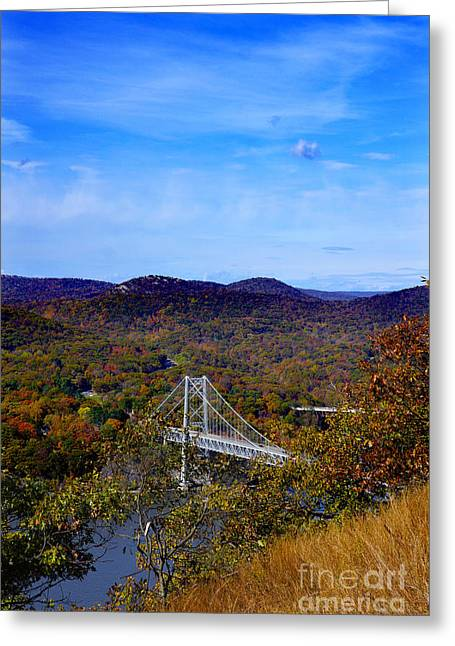 Bear Mountain Bridge From Camp Smith Trail Greeting Card