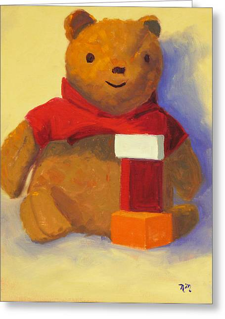 Bear Greeting Card by Nancy Merkle