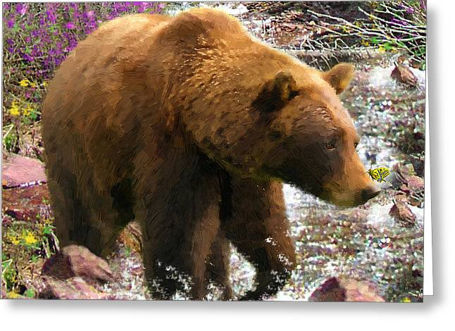 Bear Necessities II Greeting Card by Doug Kreuger