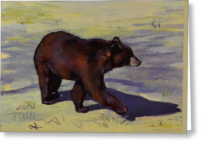 Bear Shadows Greeting Card
