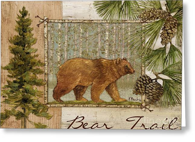 Bear Trail Greeting Card by Paul Brent