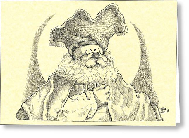 Bear With Beard Greeting Card by Jack Puglisi