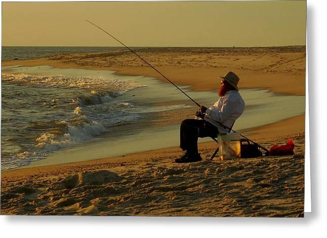Bearded Fisherman Greeting Card