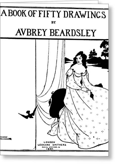 Beardsley Fifty Drawings Greeting Card