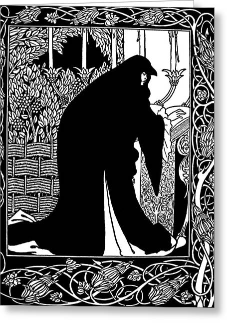 Beardsley Guinevere Greeting Card