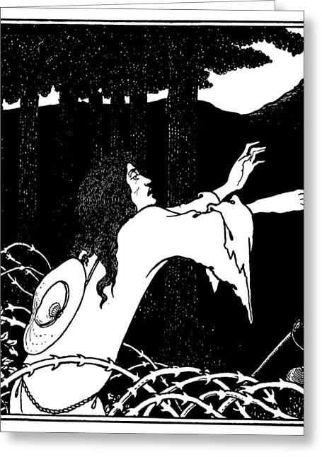 Beardsley Under The Hill Greeting Card by Granger