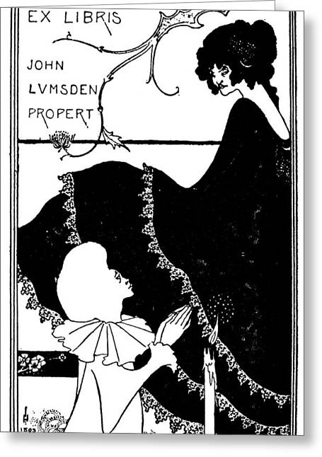 Beardsley Yellow Book Greeting Card