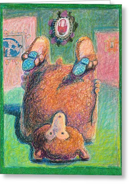 Bearos Greeting Card by Nancy Mauerman