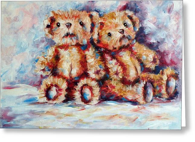 Bears Greeting Card by Kovacs Anna Brigitta