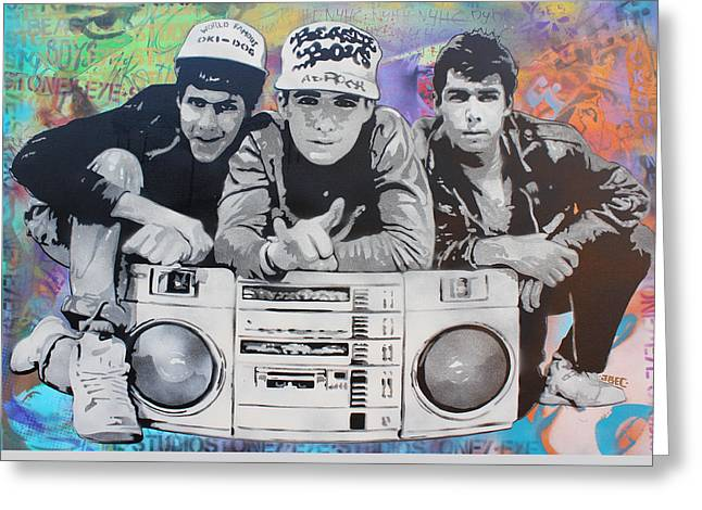 Beastie Boys Greeting Card by Josh Cardinali