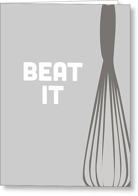 Beat It Greeting Card by Nancy Ingersoll