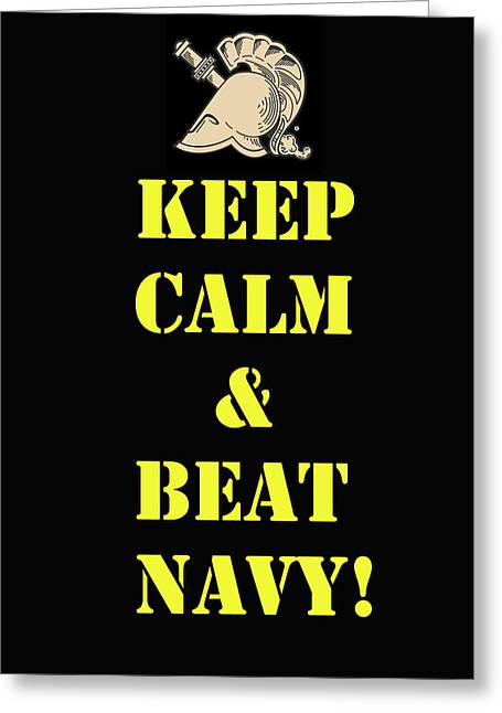 Beat Navy Greeting Card