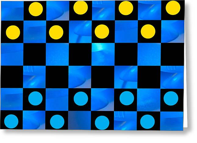 Beat The Blues Greeting Card by Lena Wilhite