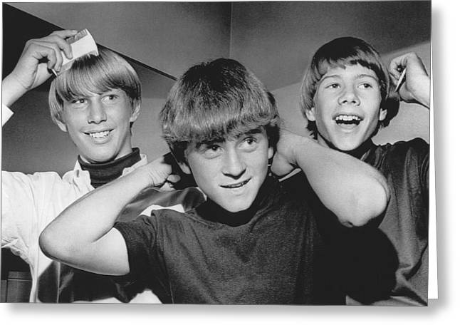 Beatle Haircuts Get Reprieve Greeting Card by Underwood Archives