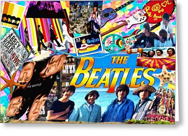Beatles For Summer Greeting Card by Mo T