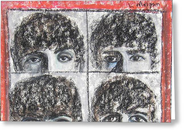 Beatles Hard Day's Night Greeting Card