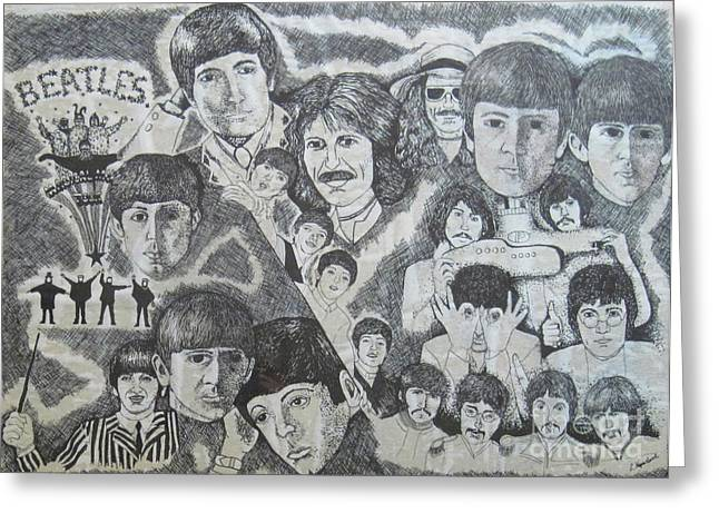 Beatles Tribute Greeting Card by Susan Plenzick