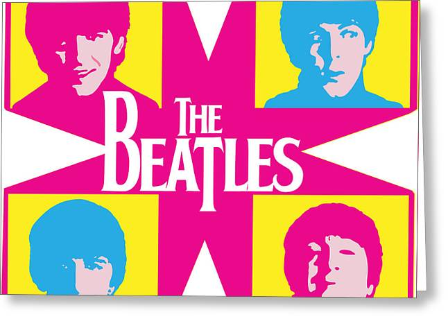 Beatles Vinil Cover Colors Project No.01 Greeting Card