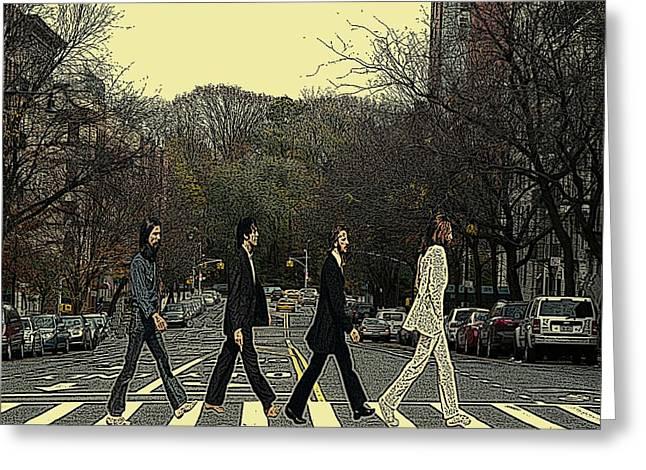 Beatles Walk New York Greeting Card