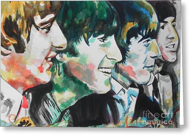 The Beatles 02 Greeting Card by Chrisann Ellis