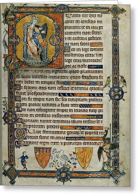 Beatus Page Greeting Card by British Library