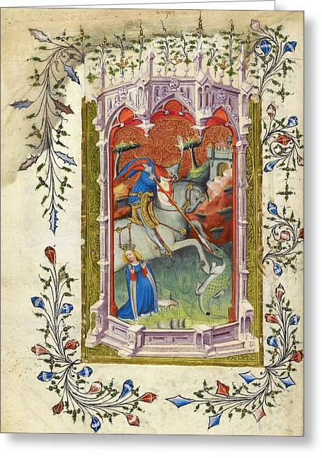 Beaufort Hours Greeting Card by British Library