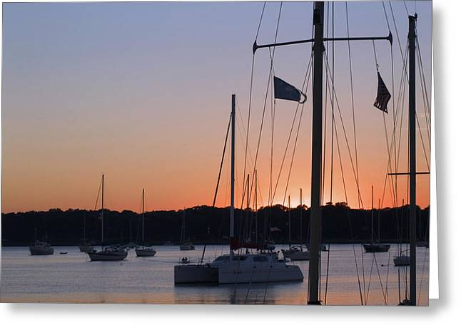 Greeting Card featuring the photograph Beaufort Sc Sunset by Bob Pardue