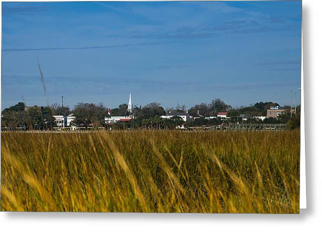Beaufort Sc Waterfront Greeting Card