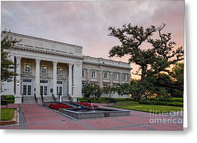 Beaumont City Hall At Sunrise - East Texas Greeting Card by Silvio Ligutti