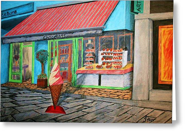 Beaune Chocolats Greeting Card by Irving Starr