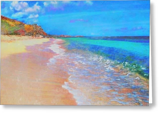 Beauregard Beach - Square Greeting Card