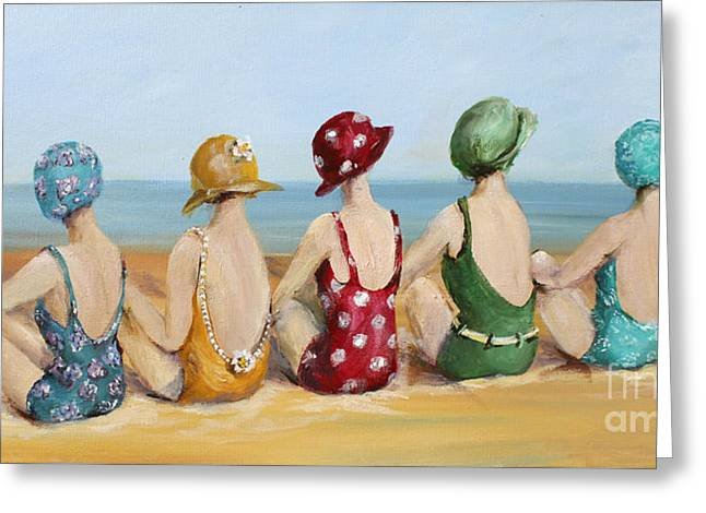 Beauties At The Beach Greeting Card by Gail McCormack
