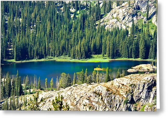 Beautiful Alpine Lake Greeting Card by Robert Bales
