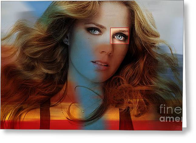 Beautiful Amy Adams Greeting Card by Marvin Blaine
