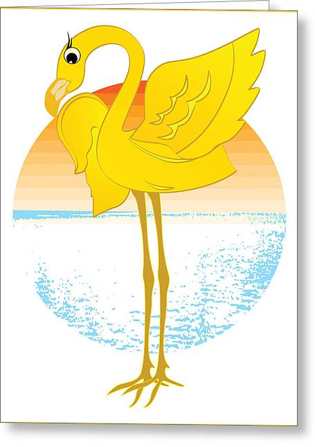 Beautiful Is The Flamingo Greeting Card by Stanley Mathis