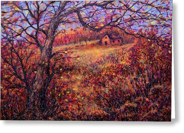 Greeting Card featuring the painting Beautiful Autumn by Natalie Holland