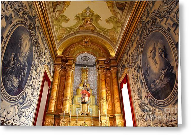 Beautiful Azorean Church Greeting Card by Gaspar Avila