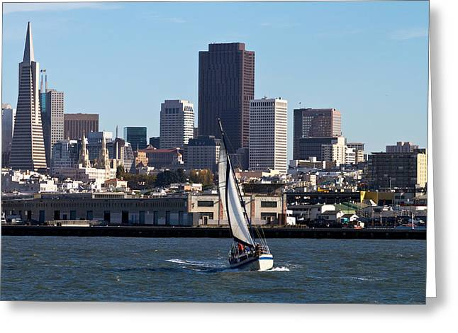 Beautiful Bay Beautiful Day Greeting Card by Bernard  Barcos