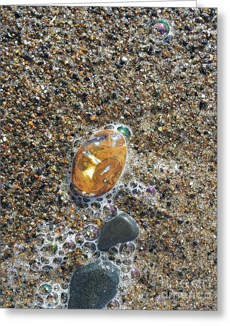 Beautiful Beach Agate Greeting Card by Laura Joki