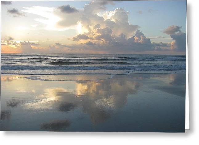 Beautiful Beach Sunrise Greeting Card