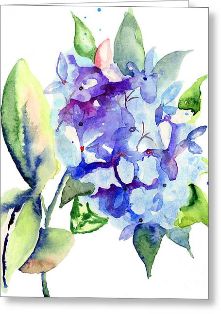 Beautiful Blue Flowers Greeting Card