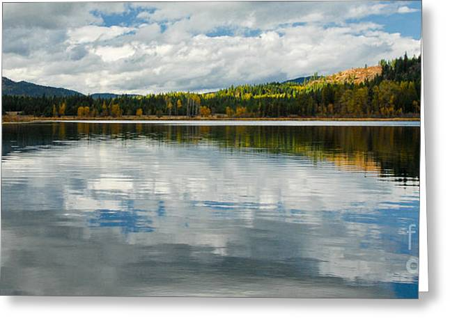 Beautiful Blue Lake Greeting Card