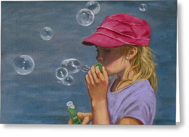 Beautiful Bubbles Greeting Card by Joyce Geleynse