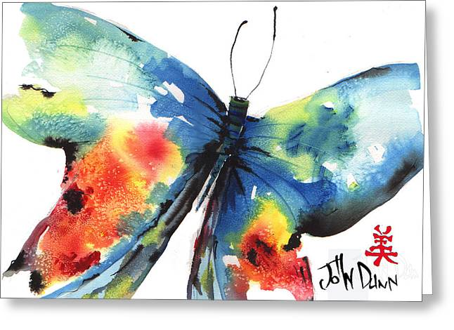 Beautiful Butterfly Greeting Card by John Dunn