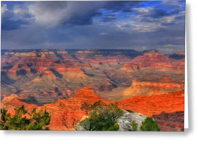 Greeting Card featuring the painting Beautiful Canyon by Bruce Nutting