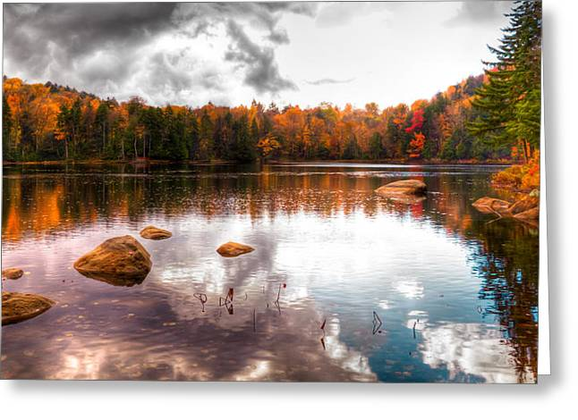 Beautiful Cary Lake In Autumn Greeting Card by David Patterson
