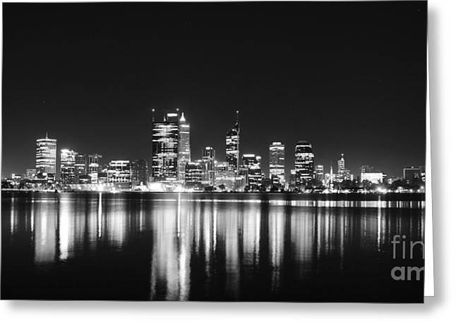 Beautiful City Skyline Greeting Card by Phill Petrovic
