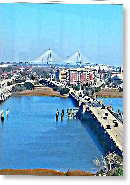 Charleston S C City View Greeting Card by Joetta Beauford